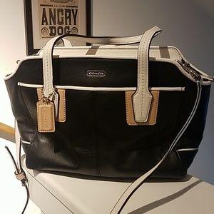 Coach mid sized NWOT black leather purse